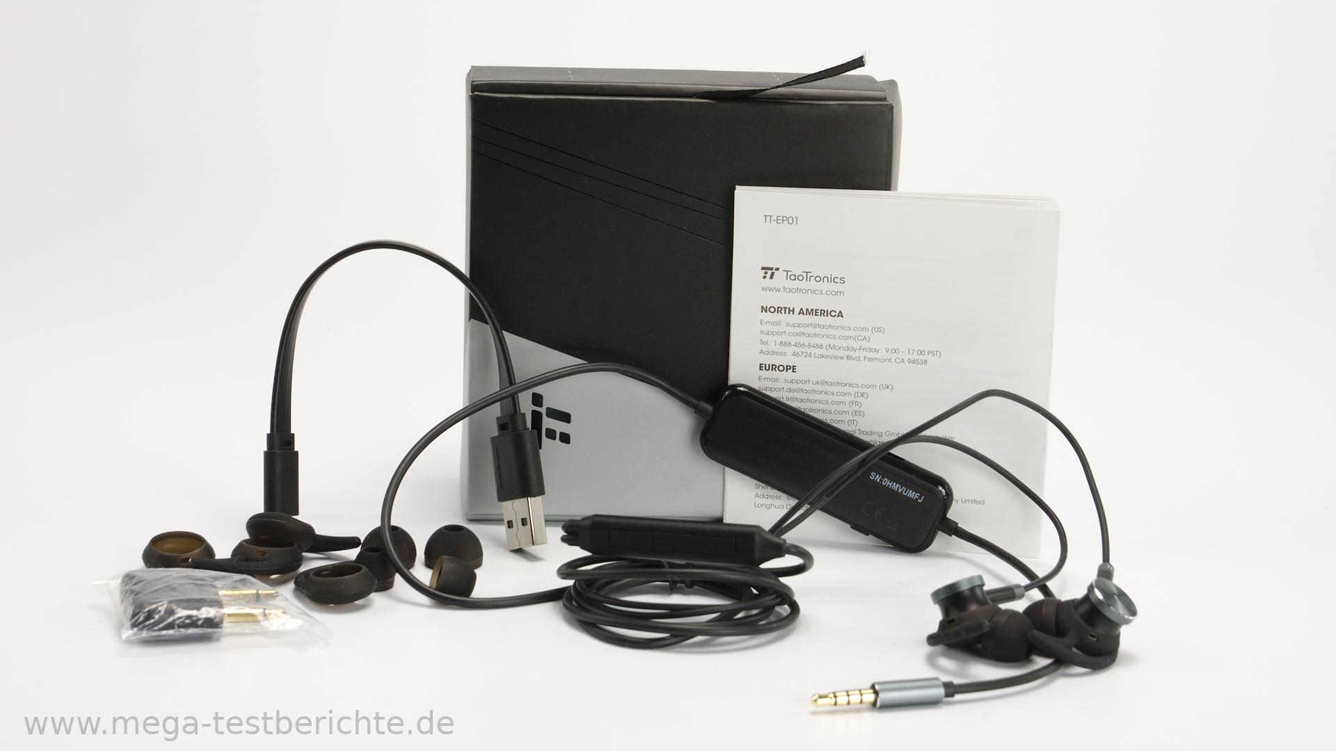 der taotronics ep01 im test in ear kopfh rer mit kabel. Black Bedroom Furniture Sets. Home Design Ideas